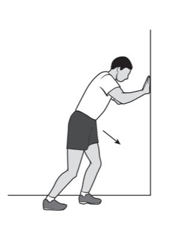 heel cord stretch with bent knee - foot & ankle recovery exercise