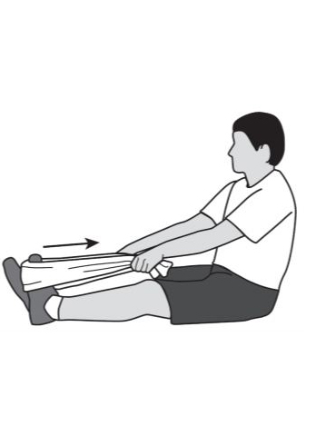 towel stretch - foot & ankle recovery exercise