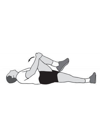 knee to chest - hip recovery exercise