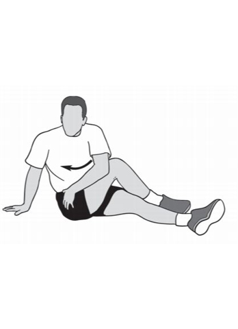 seated rotation stretch - hip recovery exercise